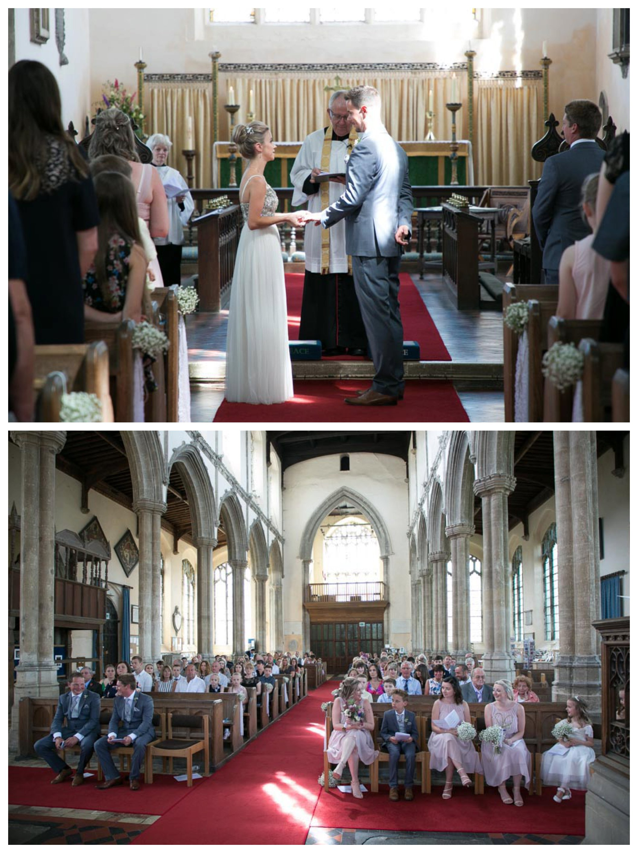 wedding ceremony at st peters and st pauls church Clare suffolk