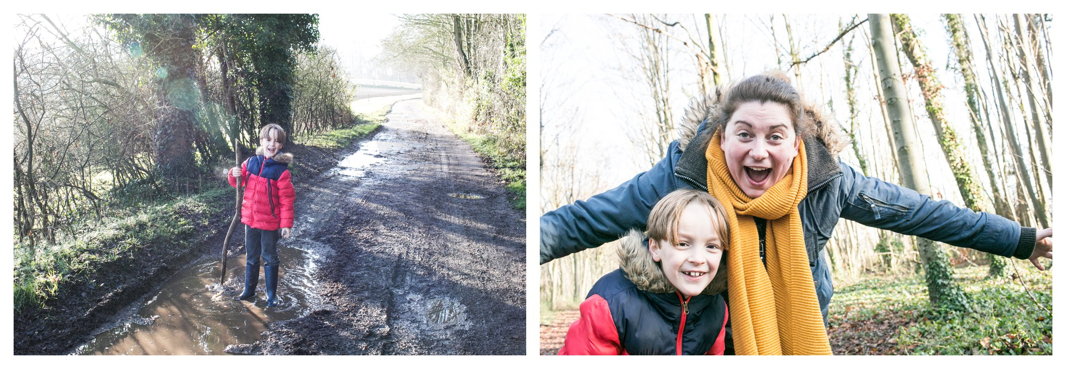 fun family photography at wandlebury country park