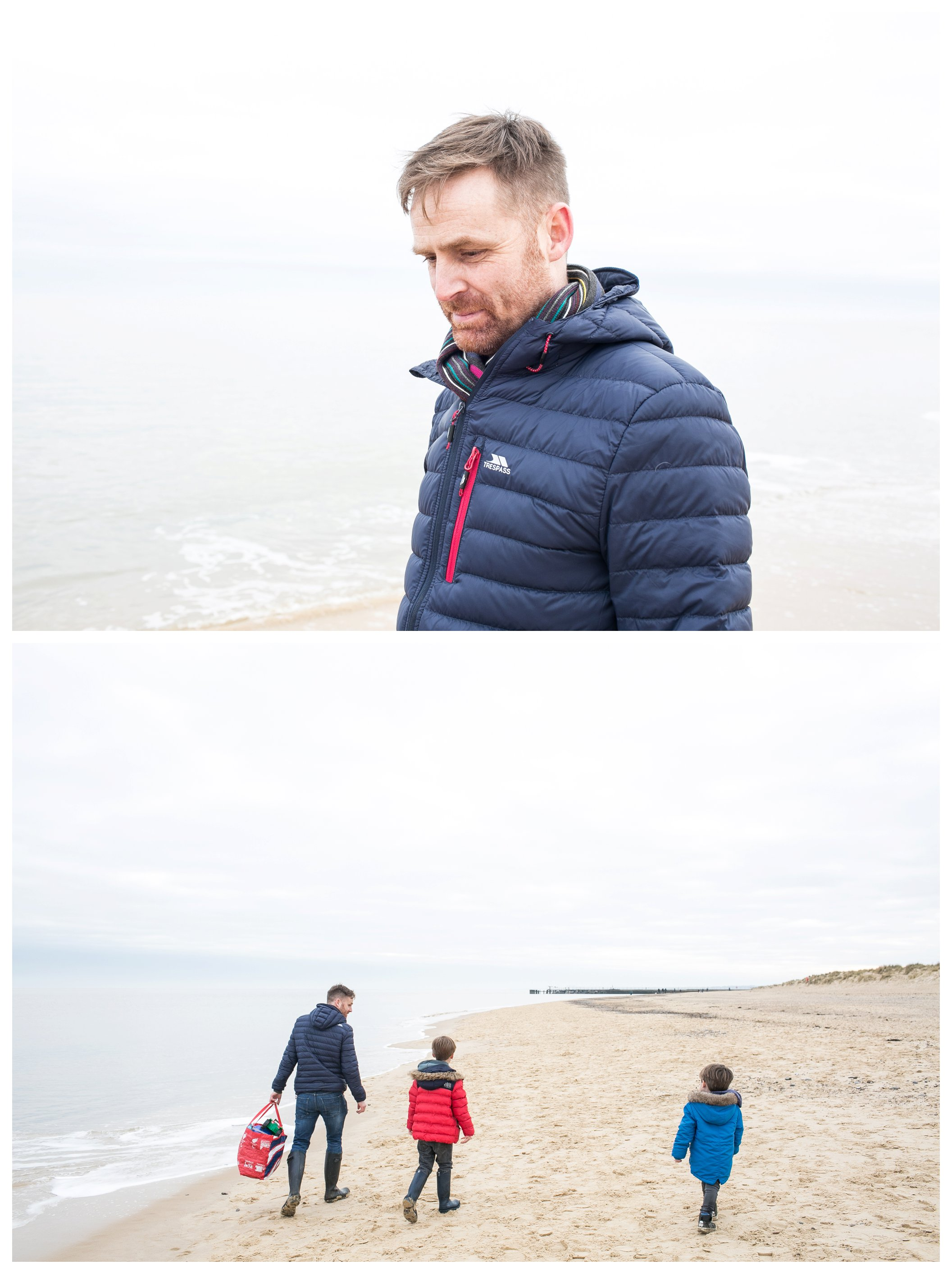 family at southwold beach