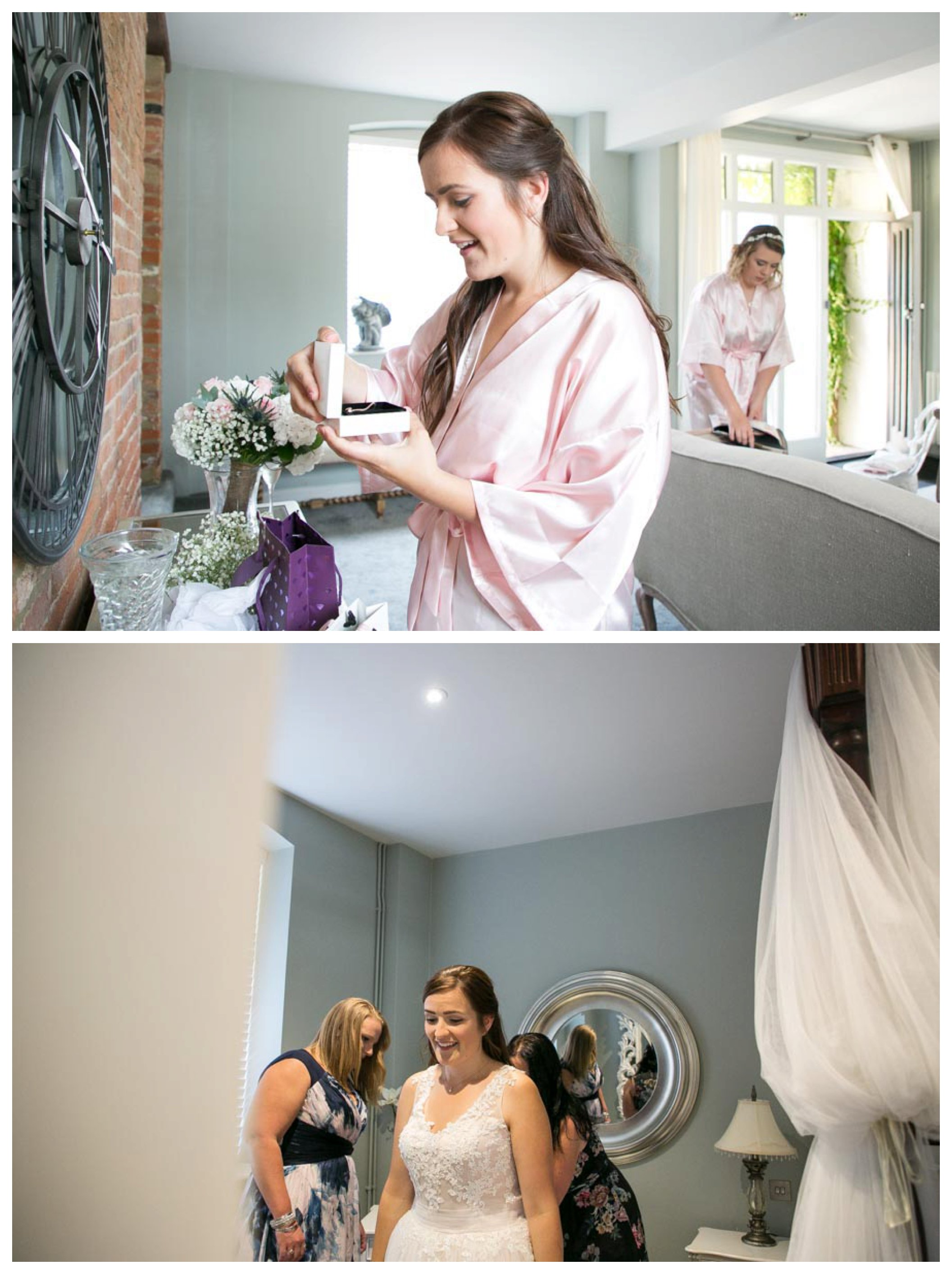 relaxed bride getting ready for her summer wedding