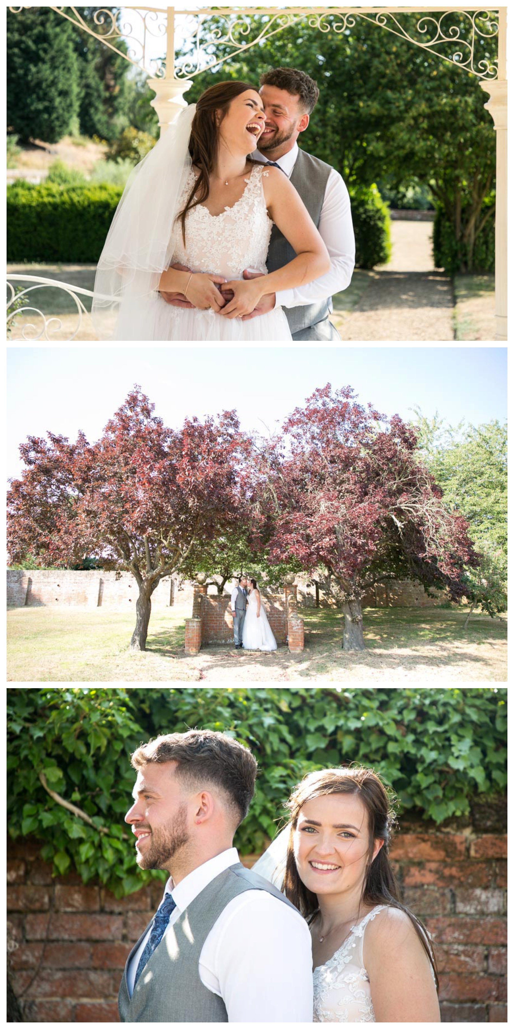 bride and groom portraits relaxed and informal in suffolk
