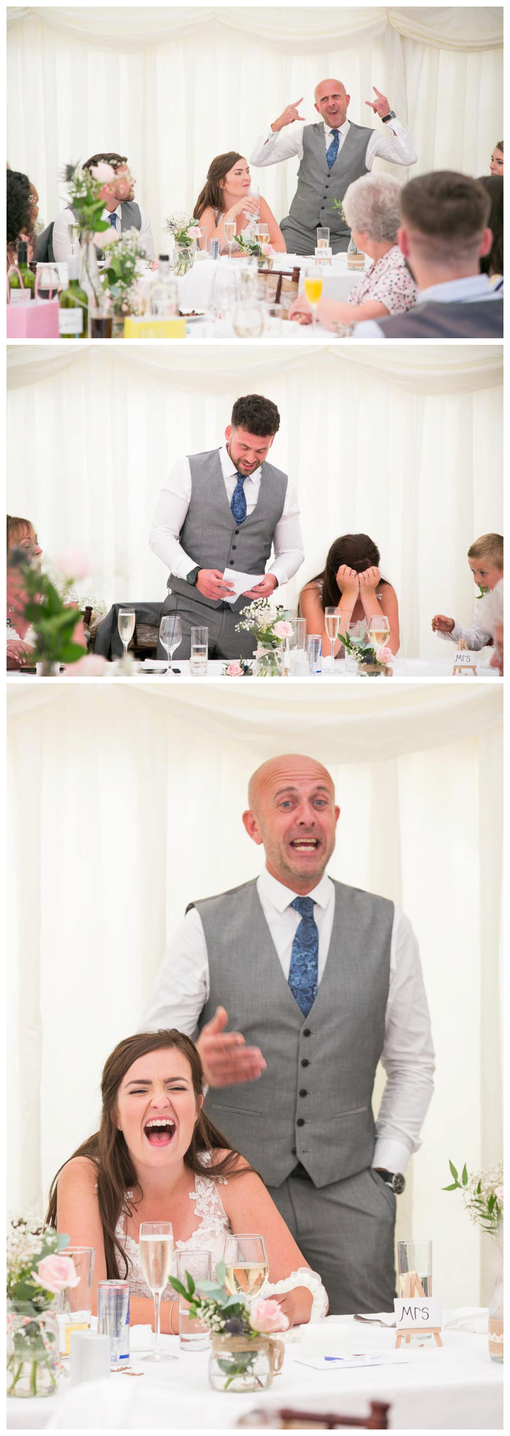 faunny speeches at seckford Hall wedding Suffolk