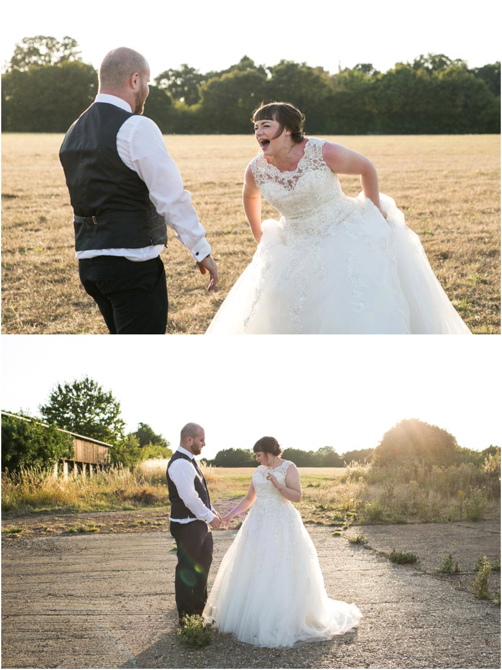 summer golden hour portriats at copdock hall wedding