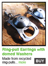 Ring-Pull Earrings with Domed Washers