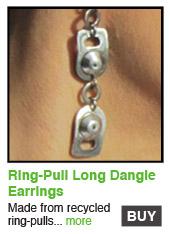 Ring-Pull Long Dangle Earrings