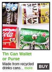 Recycled Tin Can Wallet/Purse