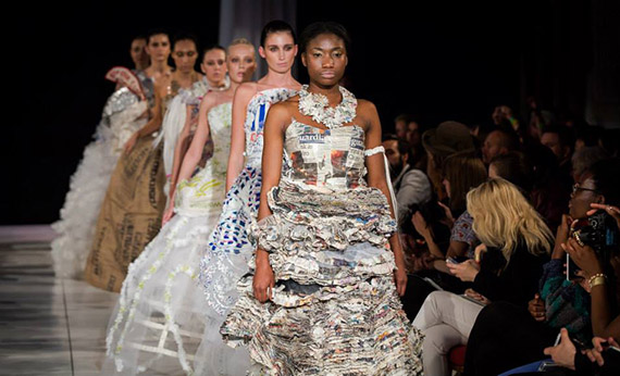Recycled fashion at Brighton Fashion Week