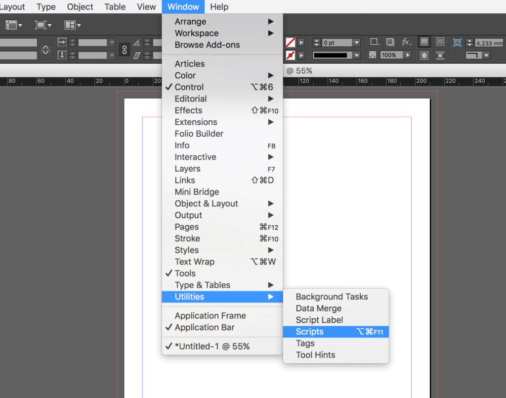 Copy Indesign Layer - activate script panel