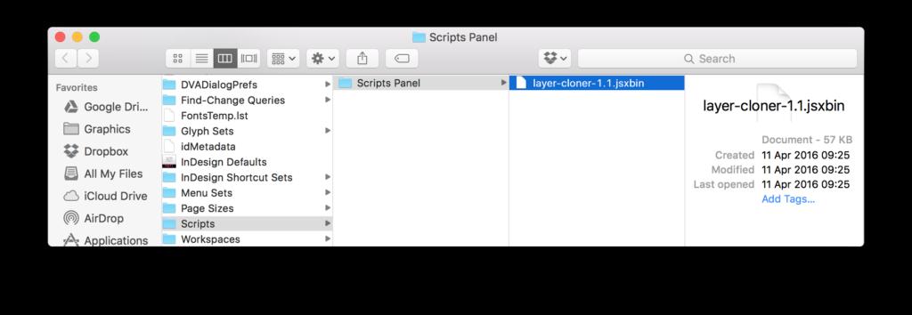 Copy Indesign Layer - Script Folder