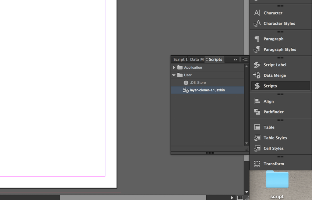 Copy Indesign Layer - Script Installed
