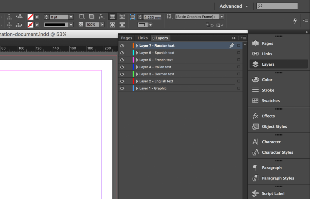Copy Indesign Layer - Layer copied
