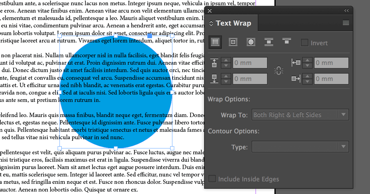 How to: Text Wrap – InDesign CC 2017