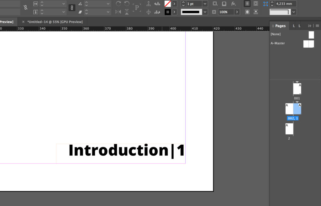 Add a section marker to InDesign page numbers
