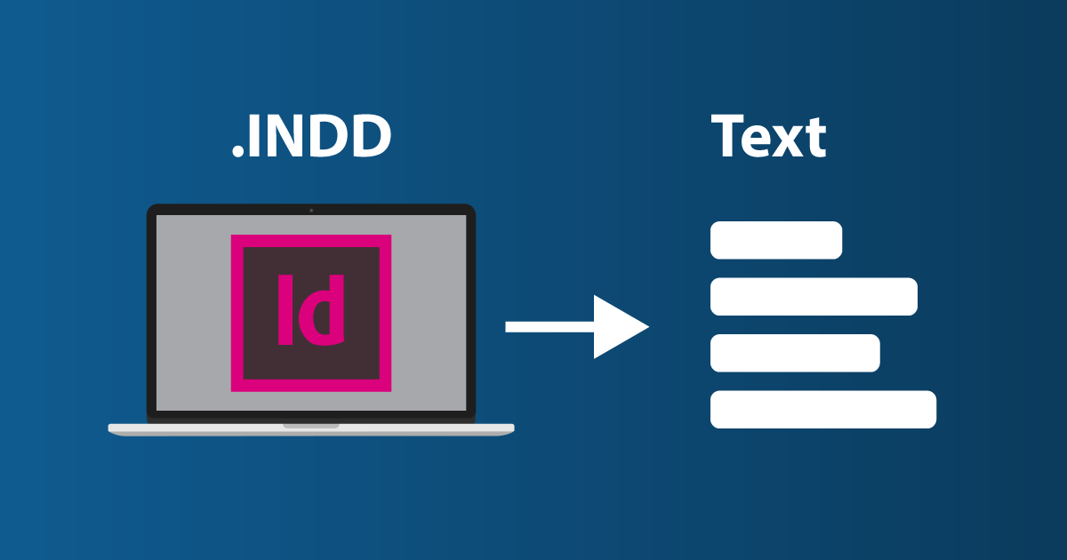 How to export text from InDesign