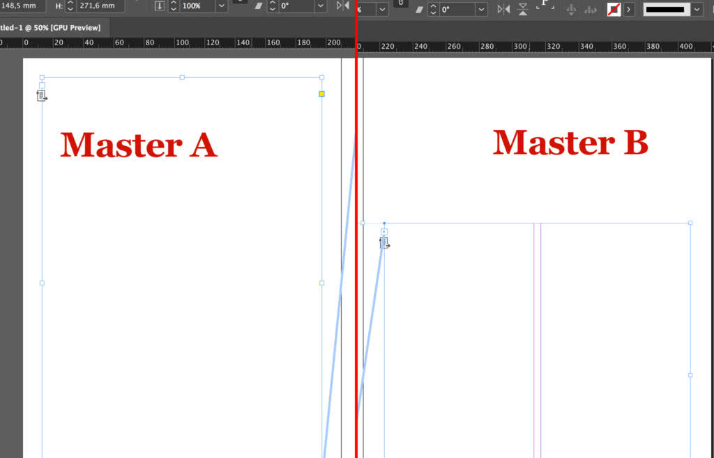 Difference between master page A and master page B