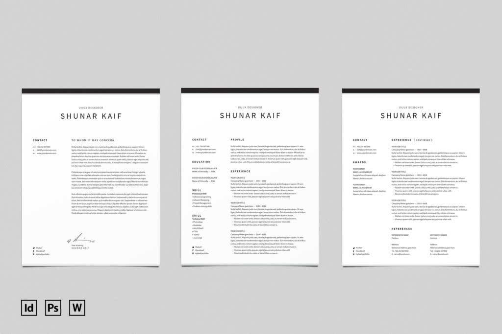 Elegant InDesign Resume Template Preview