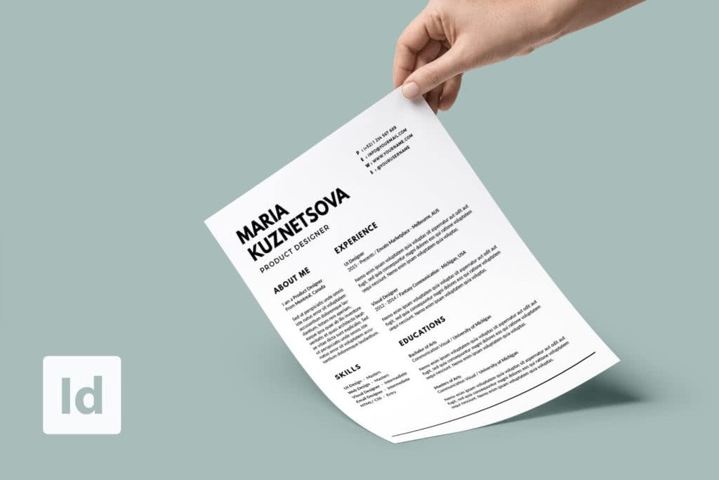 65 Fresh Indesign Templates And Where To Find More Redokun - Resume-template-indesign