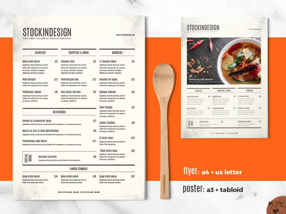 Menu For Olive Garden: 65 Fresh InDesign Templates And Where To Find More