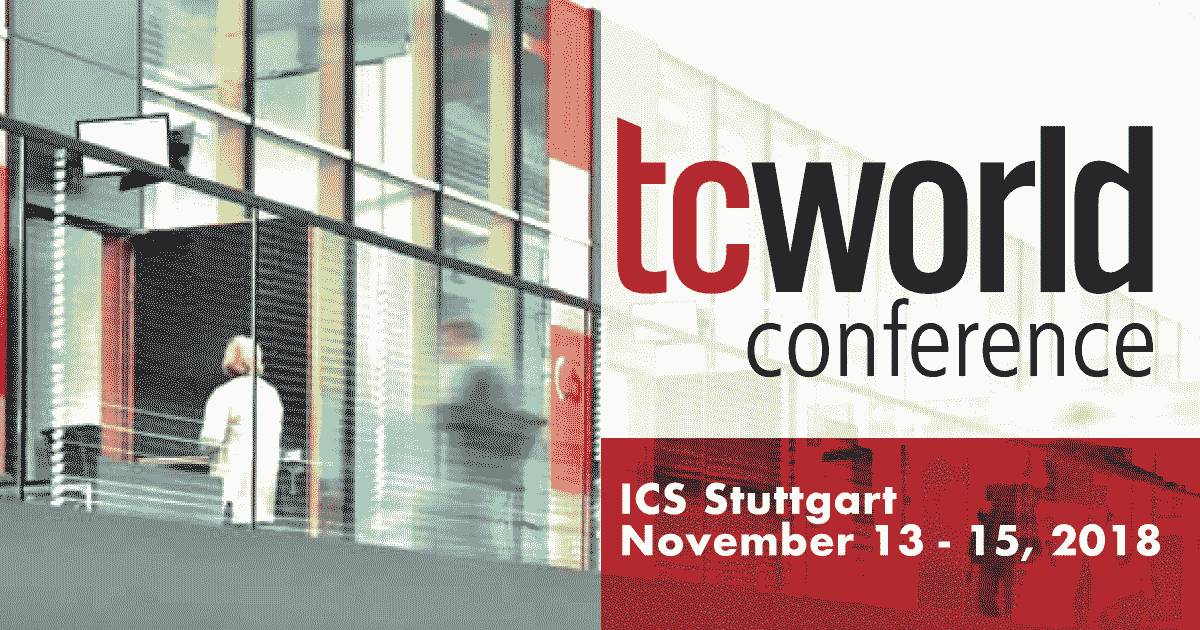 We'll be speaking at TCWorld Conference 2018