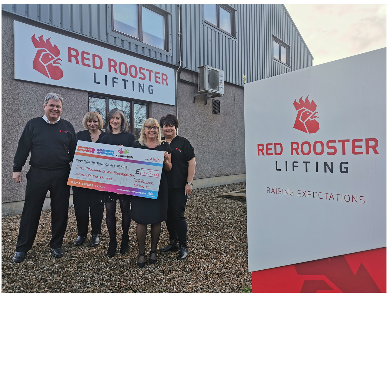 Aberdeenshire lifting company raise money for local children's charity