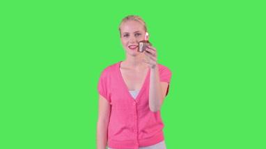 Female holding cupcake