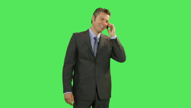 Business male on phone