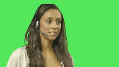 Female call centre worker