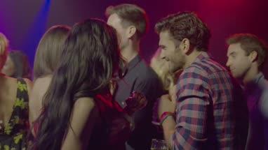 Friends dancing and having fun in nightclub