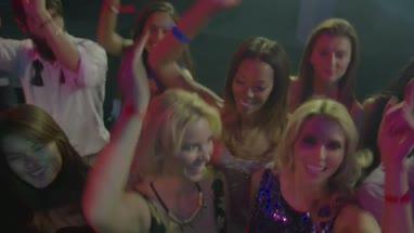 Friends having fun while dancing on music in nightclub