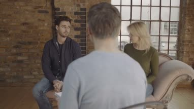 Marriage Therapy, Couple Talking to Counsellor