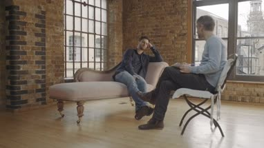 Therapy, Adult Male Talking to Counselor
