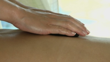 BCU PAN OF A YOUNG WOMAN HAVING STONE THERAPY