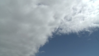 WS LOW ANGLE VIEW OF CLOUDS IN THE SKY