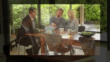 CGI Computer animation, of business advisor