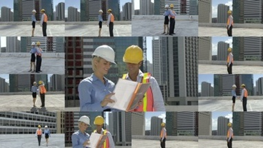 CGI Computer animation of construction workers