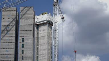 Cranes on construction site