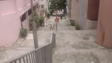 Slope alley and steps in Hong Kong, China