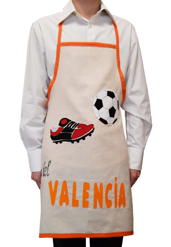 delantal fútbol Valencia