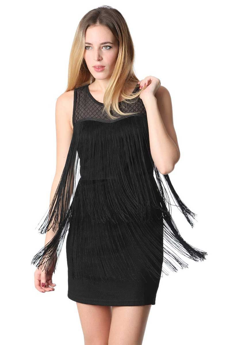 vestido-a-media-pierna-negro-con-detalle-de-flecos_4_regalva