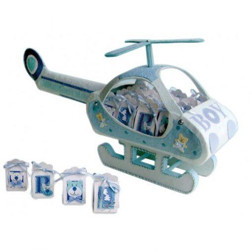 EXPOSITOR HELICOPTERO BABY AZUL (SOLO EXPOSITOR)