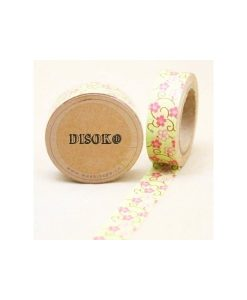 CINTA ADHESIVA WASHI TAPE 15 MM X 10 METROS DS-106