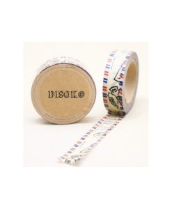 CINTA ADHESIVA WASHI TAPE 15 MM X 10 METROS DS-134