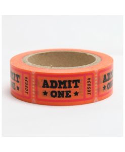 "WASHI TAPE  ""ADMIT ONE"""