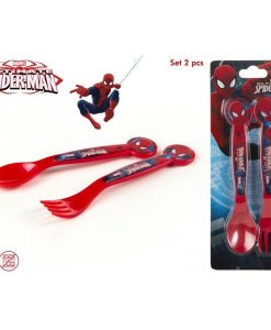 SET 2 CUBIERTOS PVC SPIDERMAN