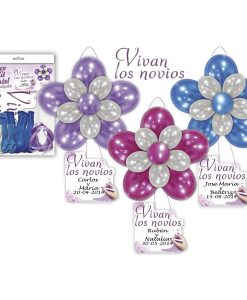 "DECO KIT BLOGOS + CARTEL ""VIVAN LOS NOVIOS"""