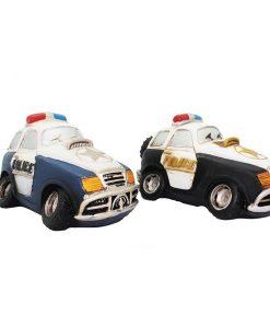 HUCHA RESINA COCHE POLICIA (2 COLORES)