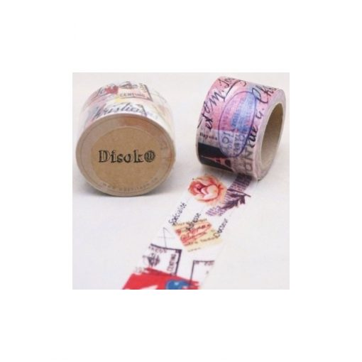 CINTA ADHESIVA WASHI TAPE 30 MM X 10 METROS DS-104