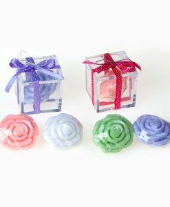 Jabón flor en caja de regalo