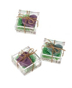 Jabón corazón en caja de regalo