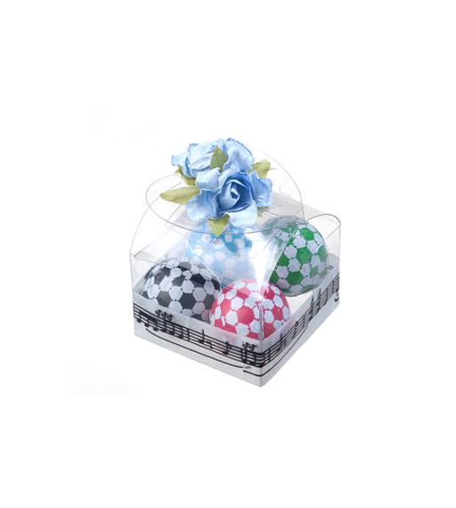 Caja decorada y bombones balón